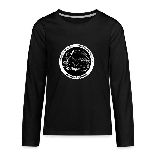 Esfinges Logo Black - Kids' Premium Long Sleeve T-Shirt