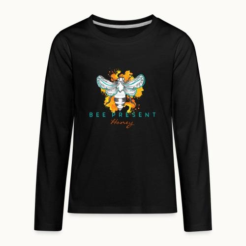 Bee Present Honey Tee - Kids' Premium Long Sleeve T-Shirt