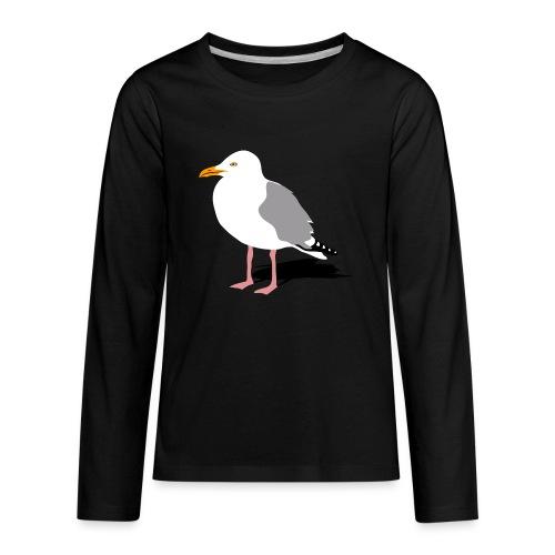 sea gull seagull harbour bird beach sailing - Kids' Premium Long Sleeve T-Shirt