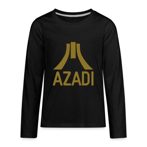 Azadi retro stripes - Kids' Premium Long Sleeve T-Shirt