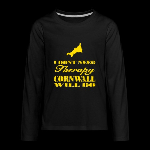 Don't need therapy/Cornwall - Kids' Premium Long Sleeve T-Shirt
