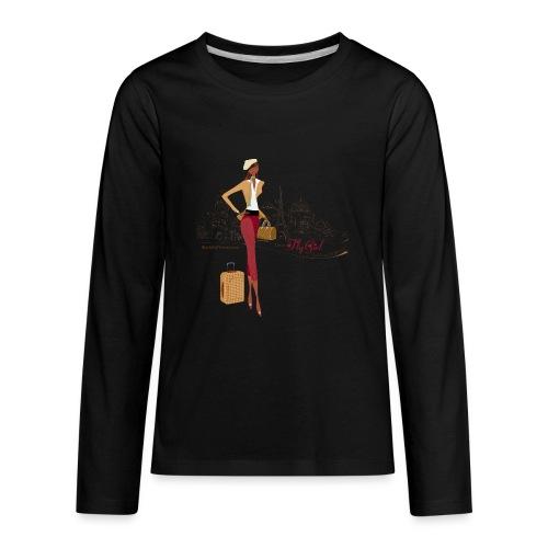 BrowOutfitPNG png - Kids' Premium Long Sleeve T-Shirt