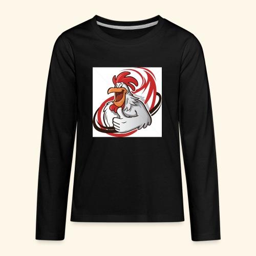 cartoon chicken with a thumbs up 1514989 - Kids' Premium Long Sleeve T-Shirt