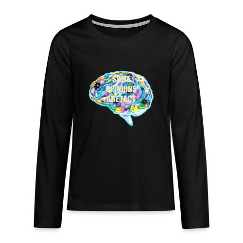 brain fact - Kids' Premium Long Sleeve T-Shirt