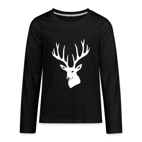 stag night deer buck antler hart cervine elk - Kids' Premium Long Sleeve T-Shirt