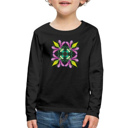 Glowing insects meeting in the middle of the night - Kids' Premium Long Sleeve T-Shirt