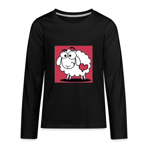 SimAlley Red Sheepy Logo - Kids' Premium Long Sleeve T-Shirt