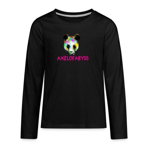 Axelofabyss panda panda paint - Kids' Premium Long Sleeve T-Shirt