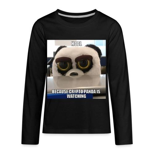 Crypto Panda Is Watching - Kids' Premium Long Sleeve T-Shirt