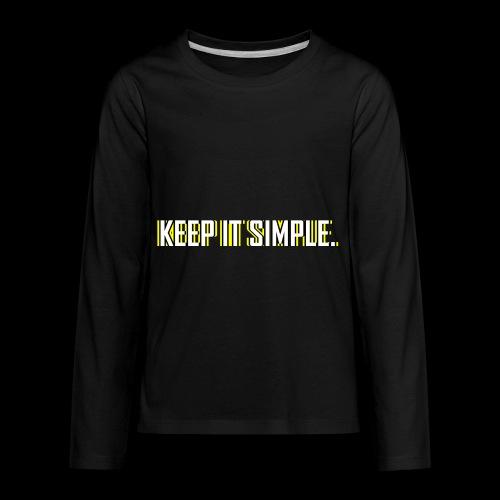 Keep It Simple - Kids' Premium Long Sleeve T-Shirt