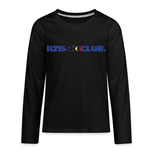 Iltis Ski Club text - Kids' Premium Long Sleeve T-Shirt
