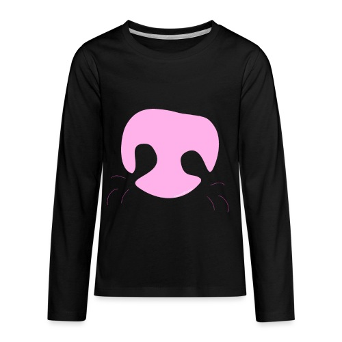 Pink Whimsical Dog Nose - Kids' Premium Long Sleeve T-Shirt