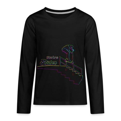 Stairs Sliders Techno - Kids' Premium Long Sleeve T-Shirt