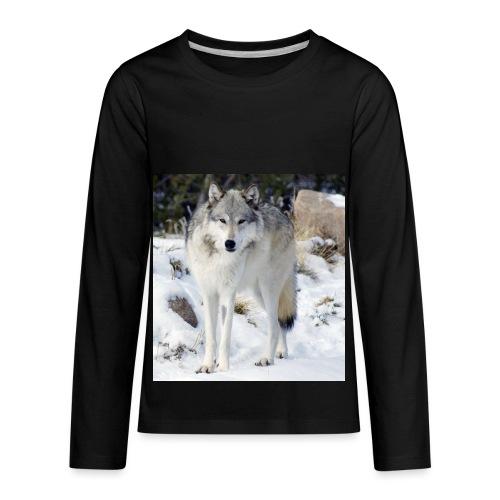 Canis lupus occidentalis - Kids' Premium Long Sleeve T-Shirt