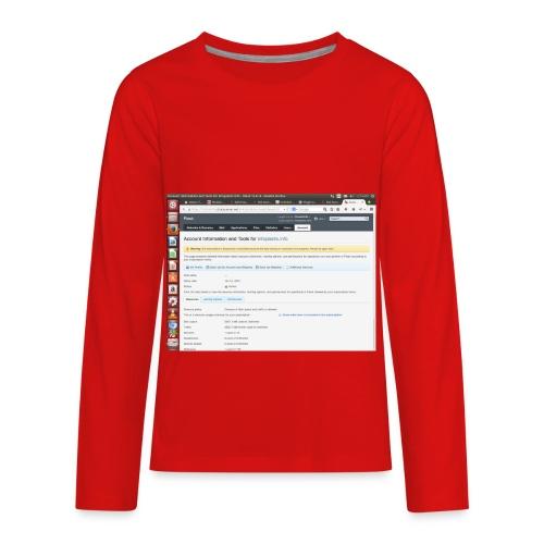 Screenshot from 2016 09 07 02 14 53 - Kids' Premium Long Sleeve T-Shirt