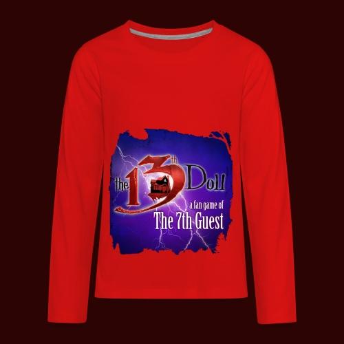 The 13th Doll Logo With Lightning - Kids' Premium Long Sleeve T-Shirt