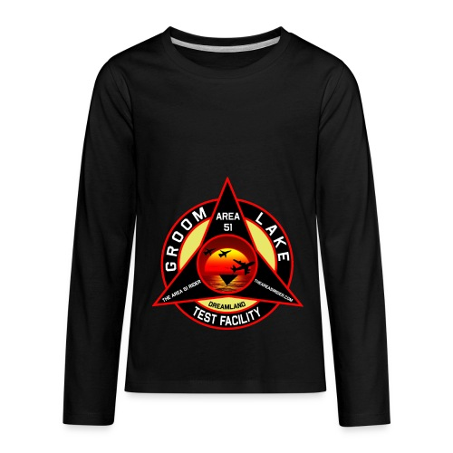 THE AREA 51 RIDER CUSTOM DESIGN - Kids' Premium Long Sleeve T-Shirt
