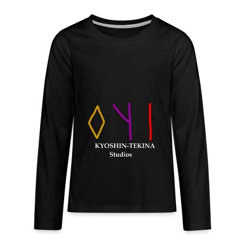 Kyoshin-Tekina Studios logo (white text) - Kids' Premium Long Sleeve T-Shirt
