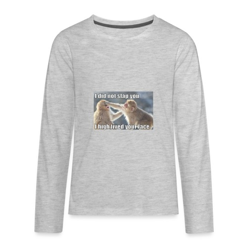 funny animal memes shirt - Kids' Premium Long Sleeve T-Shirt