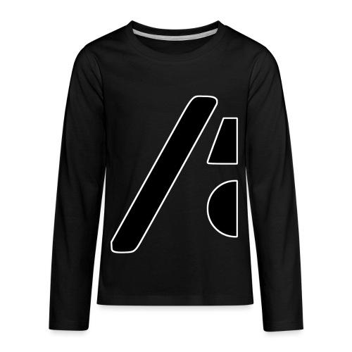 Half the logo, full on style - Kids' Premium Long Sleeve T-Shirt