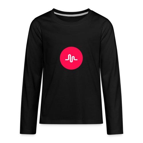 Musical.ly logo - Kids' Premium Long Sleeve T-Shirt