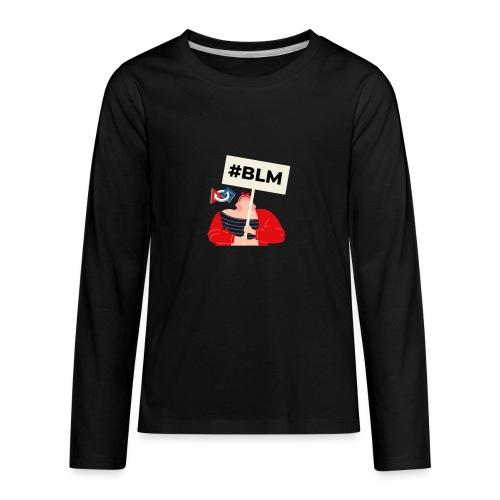 #BLM FIRST Girl Petitioner - Kids' Premium Long Sleeve T-Shirt