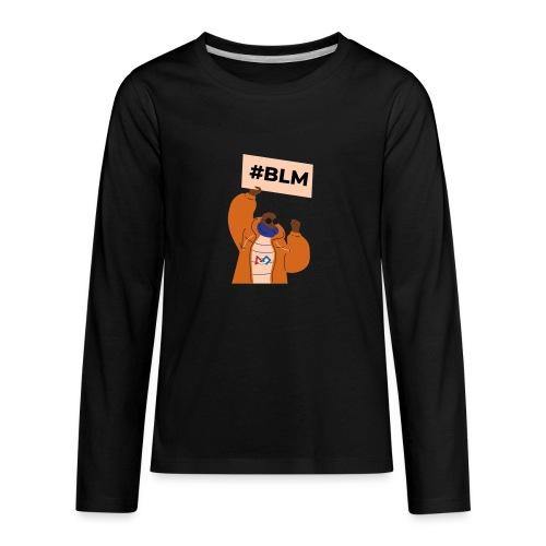#BLM FIRST Man Petitioner - Kids' Premium Long Sleeve T-Shirt