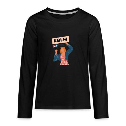 #BLM FIRST Women Petitioner - Kids' Premium Long Sleeve T-Shirt