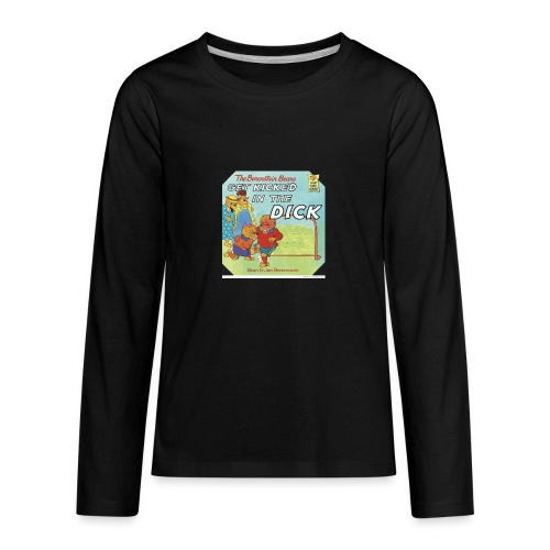 kicked in the dick - Kids' Premium Long Sleeve T-Shirt