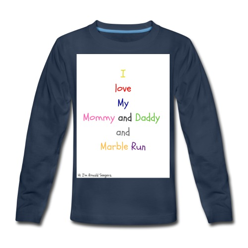 Hi I'm Ronald Seegers Collection-What I love - Kids' Premium Long Sleeve T-Shirt