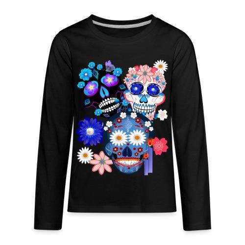 3 Skulls-Day Of The Dead - Kids' Premium Long Sleeve T-Shirt