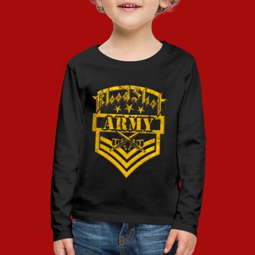 BloodShot ARMY Logo - Kids' Premium Long Sleeve T-Shirt