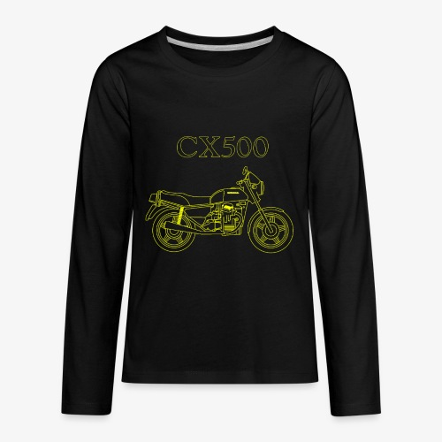 CX500 line drawing - Kids' Premium Long Sleeve T-Shirt