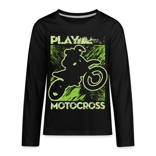 Dirt Bike Play Dirty - Kids' Premium Long Sleeve T-Shirt