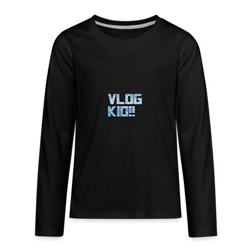 Vlog Kid - Kids' Premium Long Sleeve T-Shirt