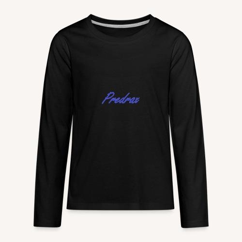 Blue Predrax Handwritten Cursive Edition - Kids' Premium Long Sleeve T-Shirt