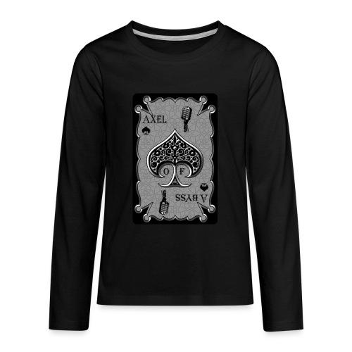 Axelofabyss Spade Card - Kids' Premium Long Sleeve T-Shirt