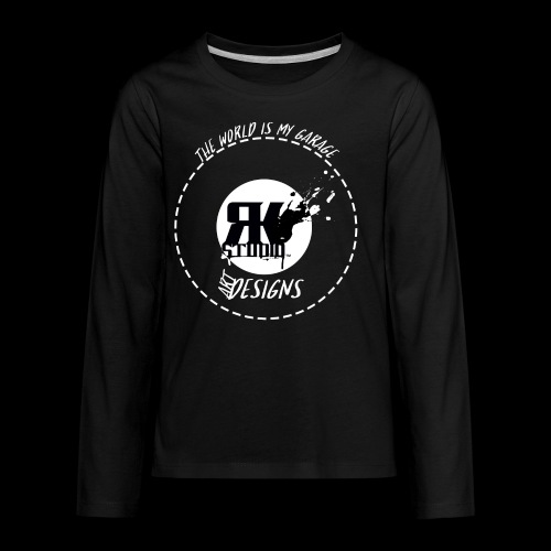 The World is My Garage - Kids' Premium Long Sleeve T-Shirt