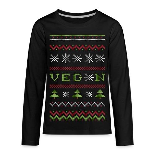 Veg*n Ugly Sweater Women's Wideneck Sweatshirt - Kids' Premium Long Sleeve T-Shirt