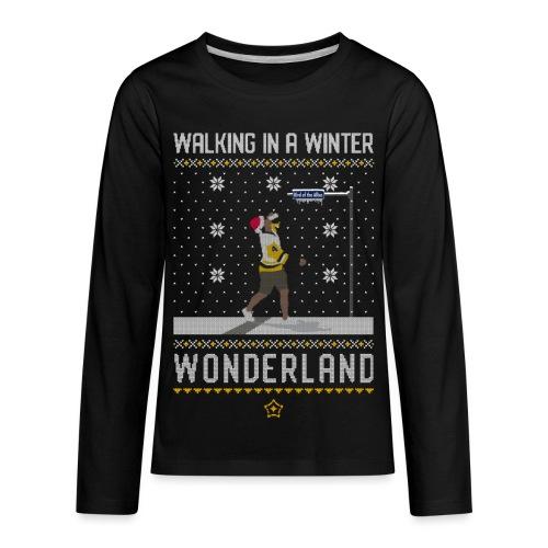 2018_Walking Winter Wonde - Kids' Premium Long Sleeve T-Shirt