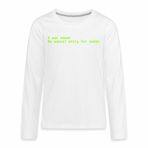 man woman. No manual entry for woman - Kids' Premium Long Sleeve T-Shirt
