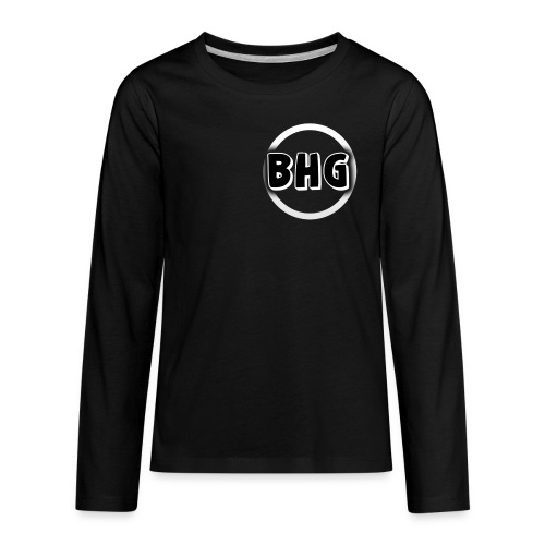 My YouTube logo with a transparent background - Kids' Premium Long Sleeve T-Shirt