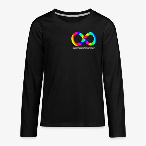 Neurodiversity with Rainbow swirl - Kids' Premium Long Sleeve T-Shirt