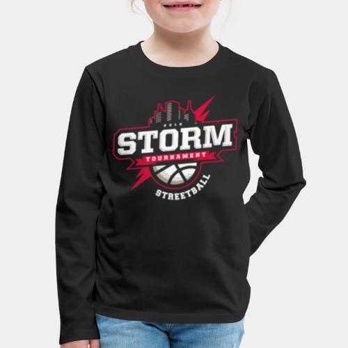 streetball basketball player - Kids' Premium Long Sleeve T-Shirt