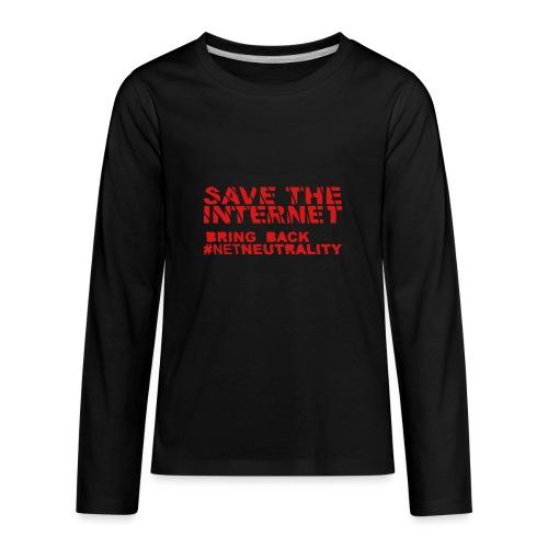 Save The Internet - Kids' Premium Long Sleeve T-Shirt