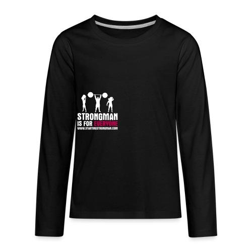 strongman is for everyone - Kids' Premium Long Sleeve T-Shirt