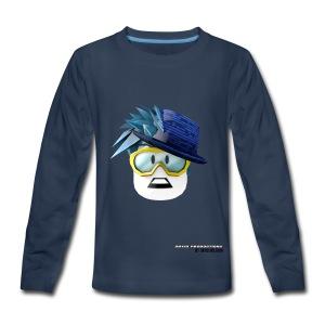 David Productions head Desing - Kids' Premium Long Sleeve T-Shirt