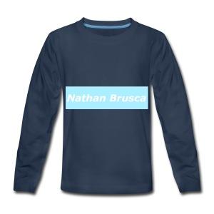 Nathan Brusca Boxlogo - Kids' Premium Long Sleeve T-Shirt