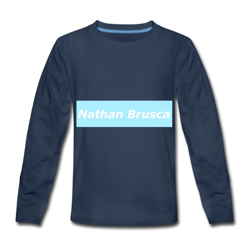 Nathan Brusca Boxlogo - Kids' Premium Long Sleeve T-Shirt