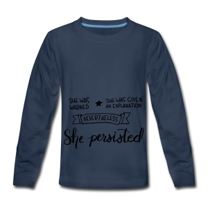 She Persisted - Kids' Premium Long Sleeve T-Shirt